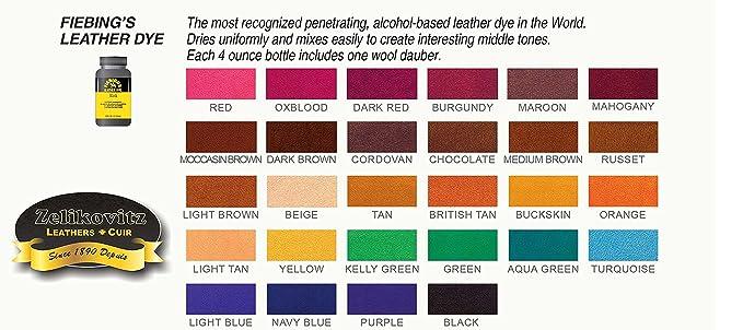 Amazon Fiebings Leather Dye Alcohol Based 4 Fl Oz 118ml