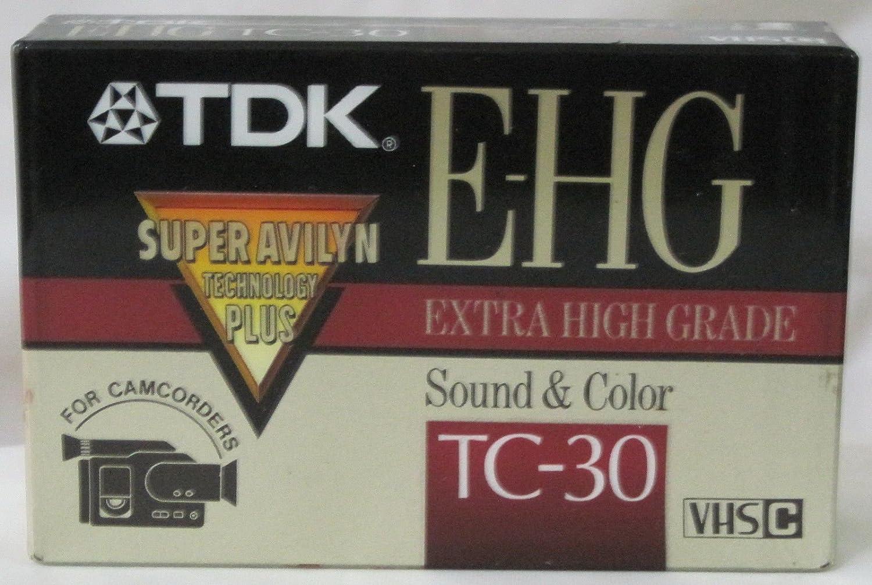 TDK E-HG Sound /& Color TC-30 VHS-C Tape