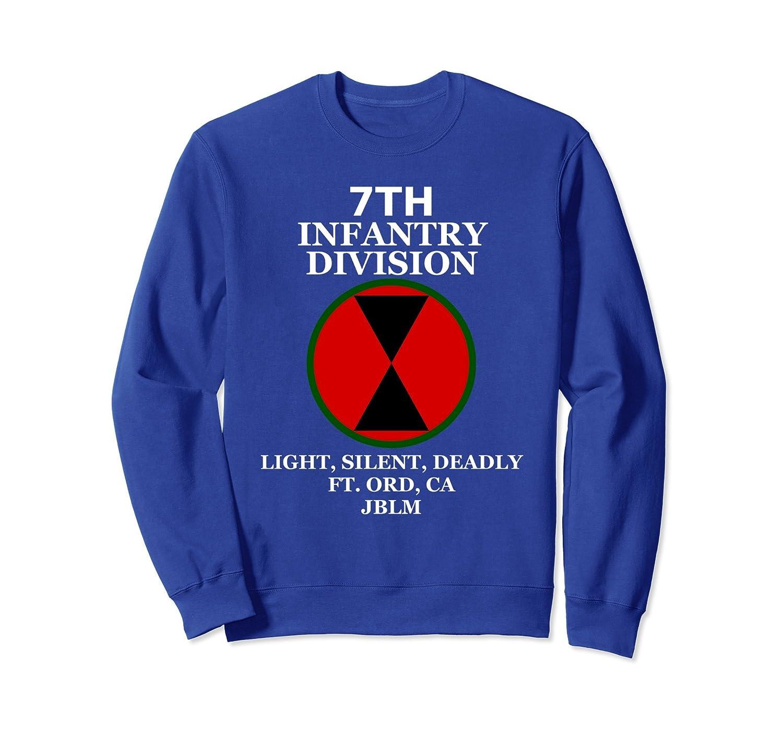 Army 7th Infantry Division Veteran Mens Pullover Hooded Sweatshirt Long Sleeve Hoodies U.S