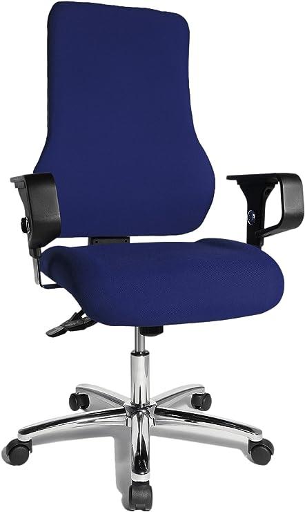 Topstar TO29XG26 Top Point SY Deluxe, Bürostuhl, Schreibtischstuhl, ergonomisch, inkl. Armlehnen, Bezug, blau