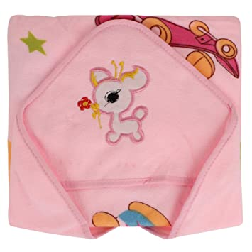1809093d07 Amazon.com  SHOP FRENZY Soft Receiving Hooded Swaddle Blanket Wrapper Pink  for Baby Boy Girl Infant Toddler Cartoon Soft  Baby