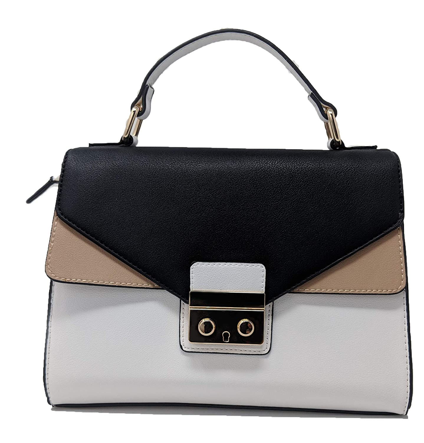 Image result for A structured colorblock purse