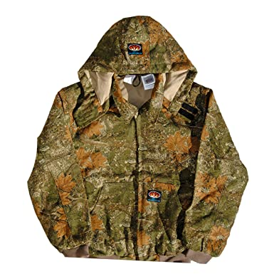ab7546cf58e2e Rasco FR Camo Quilted Hooded Jacket CJFQ2209 Camouflage Flame Resistant  Jacket (Medium Regular)