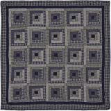 VHC Brands Rustic Columbus Cotton Pre-Washed Patchwork Rectangle King Bedding Accessory, Quilt 105x95, Navy
