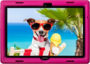 BobjGear Bobj Rugged Tablet Case for Lenovo Smart Tab M10 10.1 inch (TB-X605F, TB-X505F,I,L) and P10 (TB-X705F) Kid Friendly (Rockin' Raspberry)