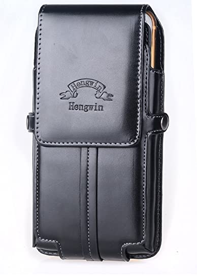 18e5e1cdef Hengwin Belt Holster Phone Case for Men Belt Clip Magnetic Closure Pouch  Compatible for iPhone 7 8 6s Plus Samsung S9 S8 Plus Belt Loop Cellphone Bag  with ...