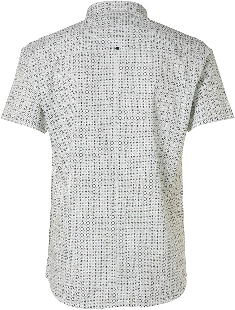No EXCESS, camisa elástica con Circle All-Over Print gris L: Amazon.es: Ropa y accesorios