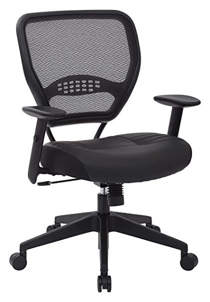 Superbe SPACE Seating Professional AirGrid Dark Back And Padded Black Eco Leather  Seat, 2 To