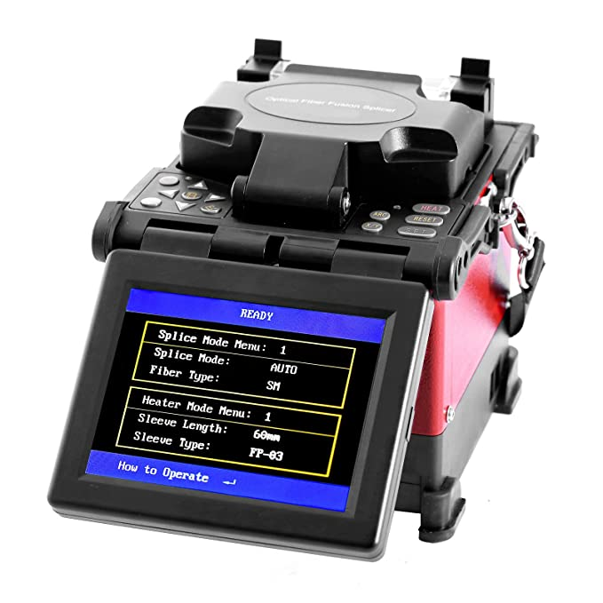 SUCCEBUY JW4108S FTTH - Fusionadora de fibra óptica (pantalla LCD digital de 12,7 cm (5 pulgadas), con mecanismo de división de fibra óptica: Amazon.es: ...