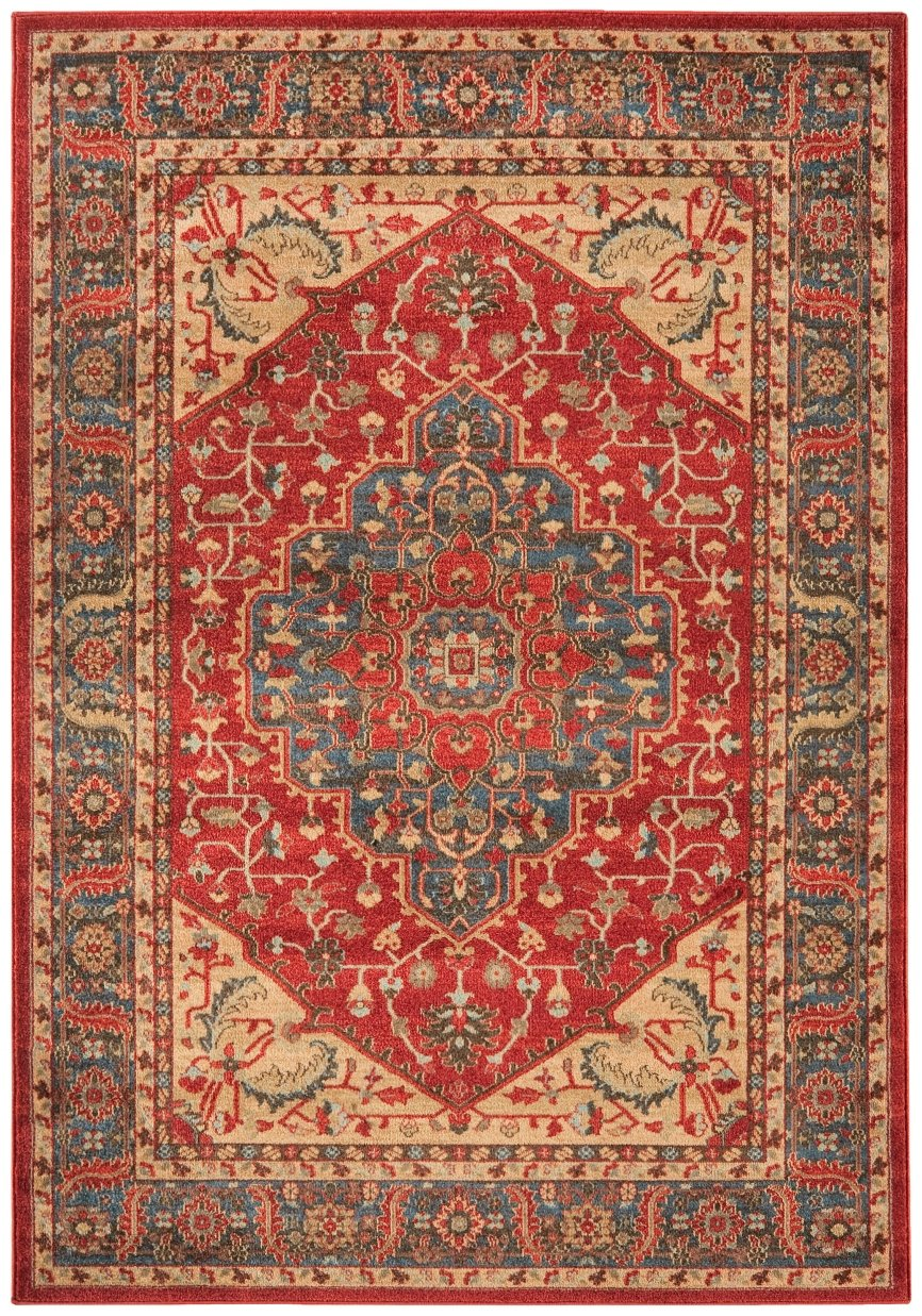 Kadimadesign Klassischer Teppich Orientalisch Windsor Rug 240x340cm WIN08 blau rot