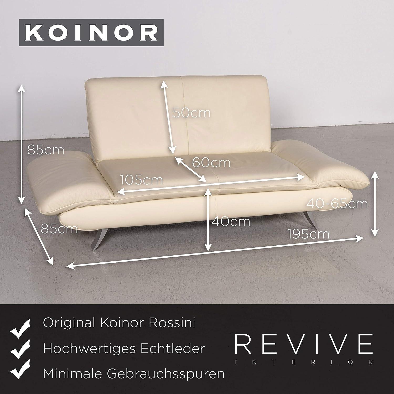 Koinor Rossini Designer Leather Sofa Cream Genuine Leather Two Seater Couch Sanaa Amazon Co Uk Home Kitchen