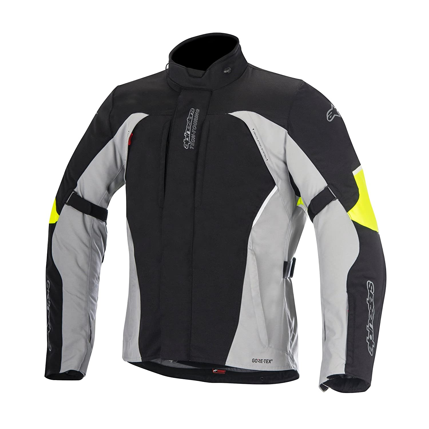 Alpinestars Ares Gore-Tex Motobike Motocycle Jacket Blk/Gry/Fluo M