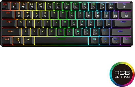 Color : Black Gaming 78 Keys Tablet Mobile Phone Computer Dual-Mode Mechanical Mini Bluetooth Keyboard Black Blue Axis Version