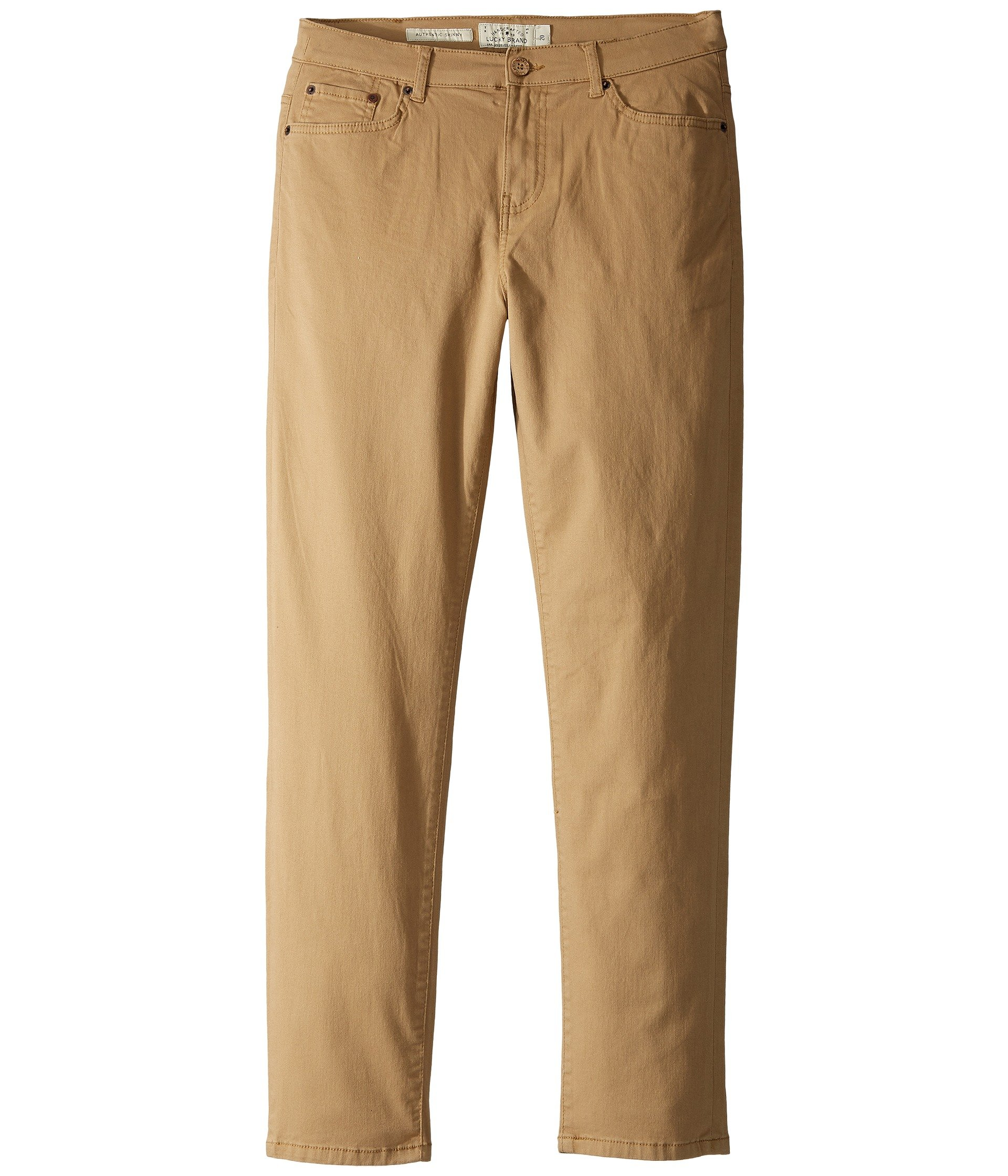 Lucky Brand Big Boys' Five Pocket Stretch Twill Pant, Kelp, 20