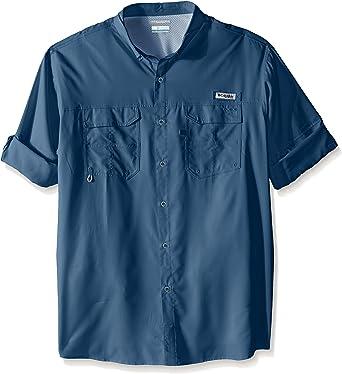 Columbia Blood and Guts III Short Sleeve Woven Shirt Blue Heron