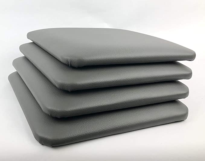 Amazon.com: Pack de 4 cojines cuadrados para taburete/pelo ...