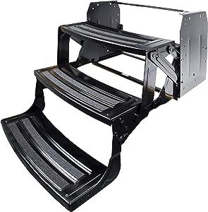 "Lippert Components 1774401 Black Standard 24"" Triple 9"" Radius Manual Step"