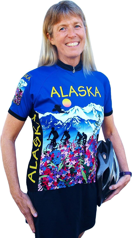 レディースアラスカ花半袖ジャージー