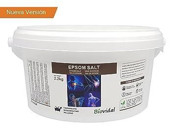 Sal de Epsom Biovital 2.2 Kg, Fuente concentrada de Magnesio, Sales 100% Naturales. Baño y Cuidado Personal. (2.2kg): Amazon.es: Belleza