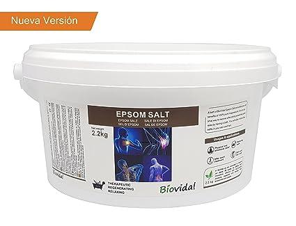 Sal de Epsom Biovital 2.2 Kg, Fuente concentrada de Magnesio, Sales 100% Naturales