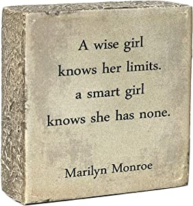 ARTSSS A Wise Girl Knows her Limits a Smart Girl Knows she has None|Marilyn Monroe|Home Decor Signs, Decorative Signs, Inspirational Plaques,Wooden Signs with Sayings Gift of Love.