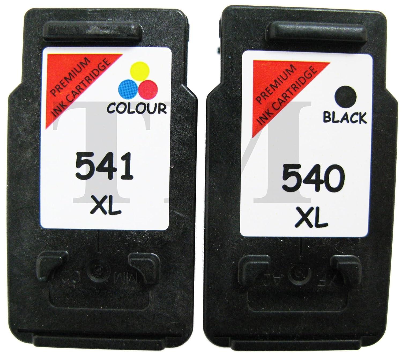 Cartuchos reciclados de tinta de color PG-540 XL negro y CL-541 XL ...