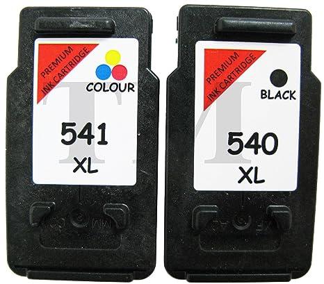 Cartucce di inchiostro rigenerate, nera PG 540  XL e a colori CL 541  540  3cb536