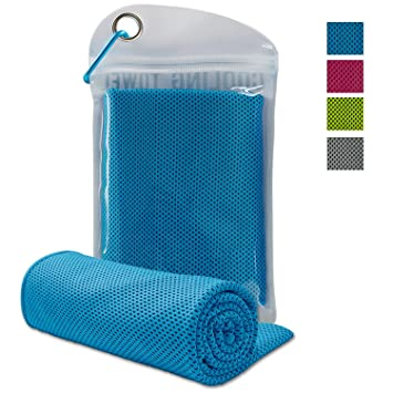 4 Pack Ice Cooling Towel Instant Chilling Pad Running Jogging Gym Yoga Sports US