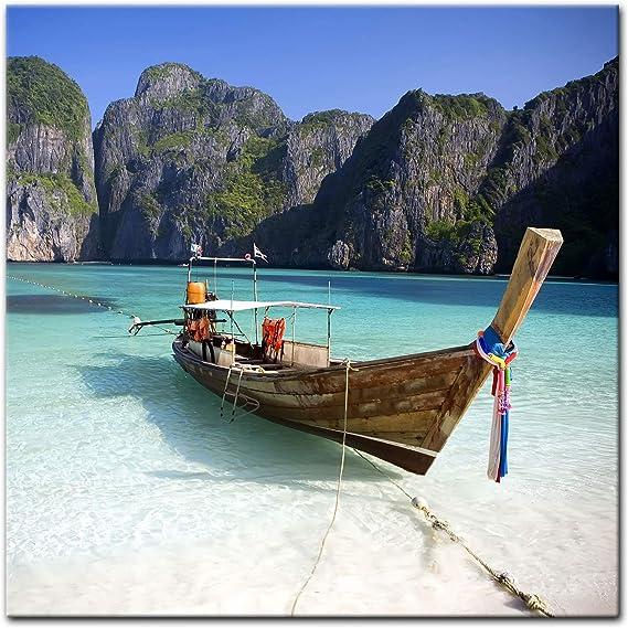 Bilderdepot24 Cuadros en Lienzo Maya Bay KOH Phi Phi Ley - Tailandia - 20 x 20 cm - Listo tensa, Directamente Desde el Fabricante: Amazon.es: Hogar