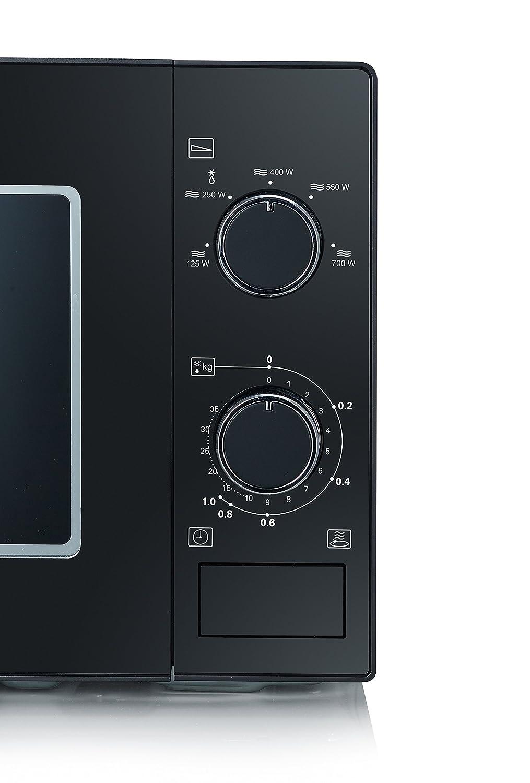 Severin MW 7897 Microondas de 700 W, color negro y cromado, 20 ...