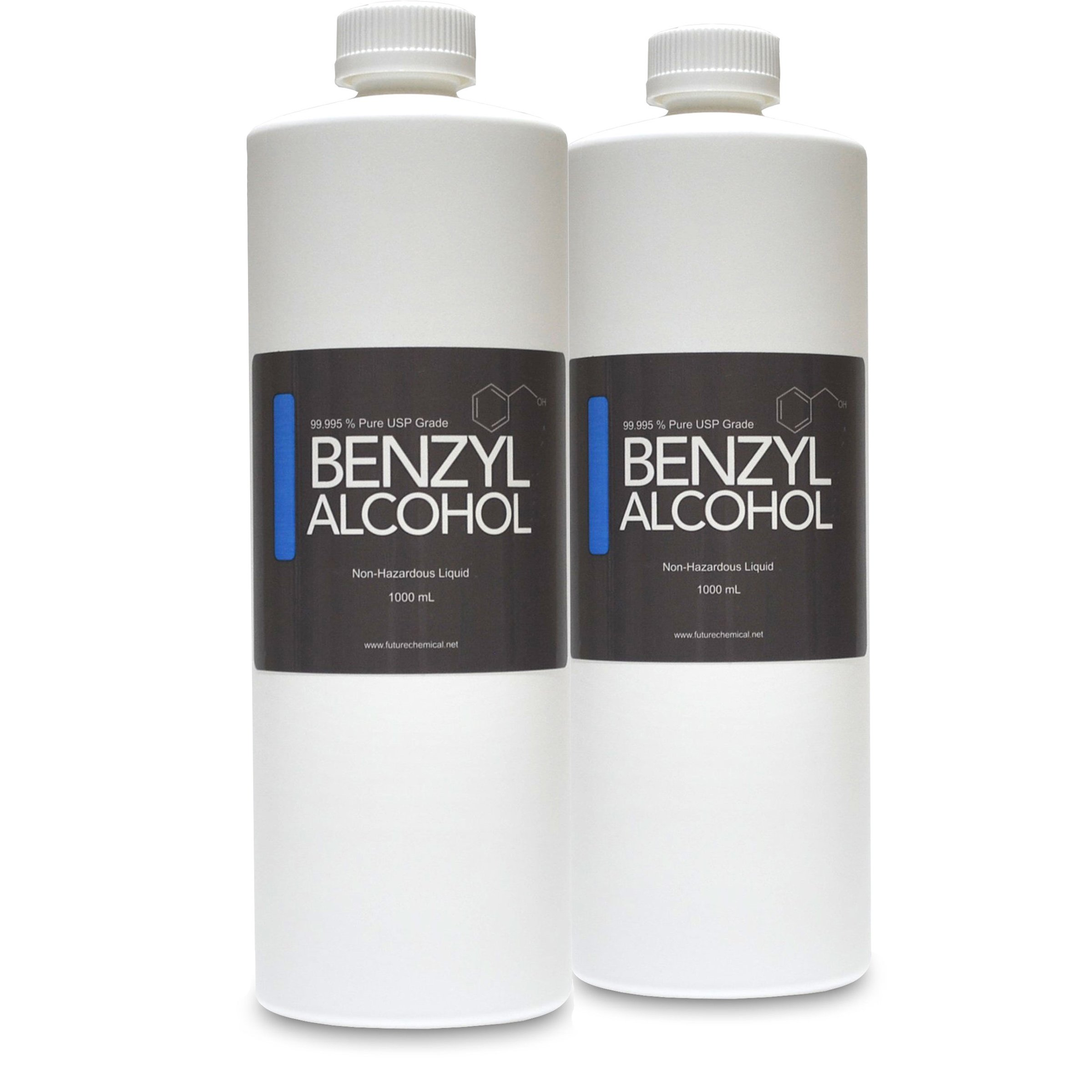 2 Bottles of 1000 ML (32 OZ) Benzyl Alcohol USP Grade in Sterile Plastic Bottle (BPA FREE)