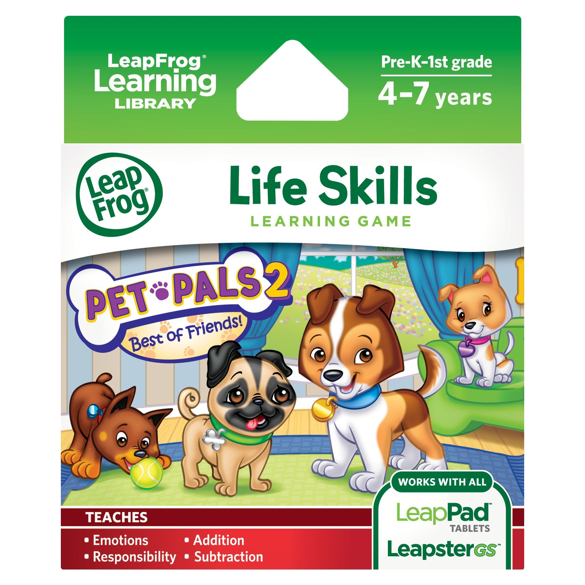 LeapFrog Pet Pals 2 Learning Game (works with LeapPad Tablets, LeapsterGS, and Leapster Explorer) by LeapFrog