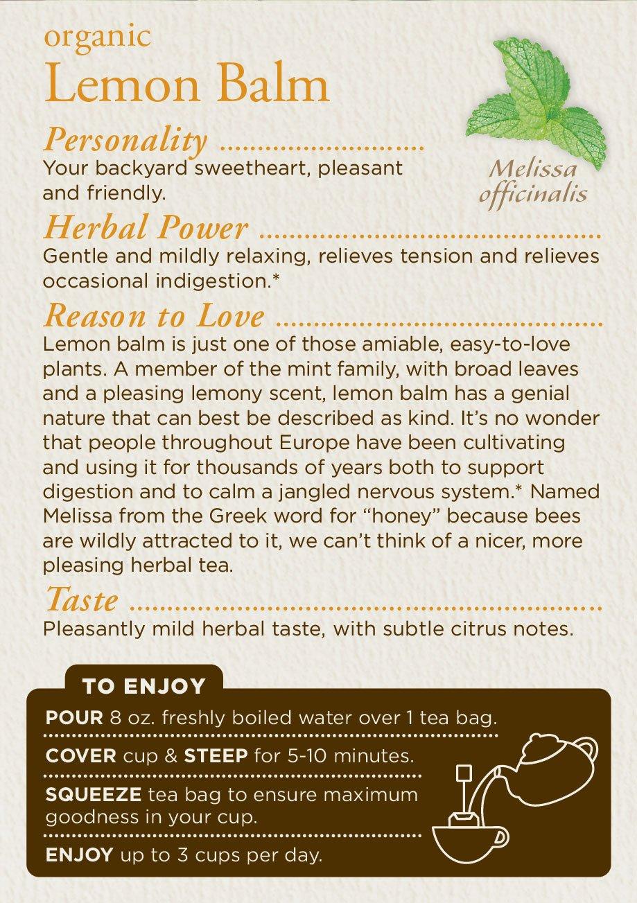 Traditional Medicinals Organic Lemon Balm Tea, 16 Tea Bags (Pack of1) by Traditional Medicinals (Image #4)