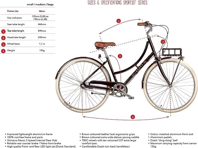 Lekker Bikes Sportief 3 Speed - Bicicleta para Mujer: Amazon.es: Deportes y aire libre