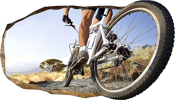 3D Papel Pintado Rueda de bicicleta, Fotomurales Decoración Papel ...