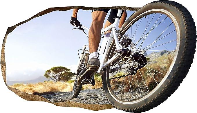 3D Papel Pintado Rueda de bicicleta, Fotomurales Decoración Papel tejido-no tejido Mural Dimensión XL 82 x 150 CM: Amazon.es: Bricolaje y herramientas