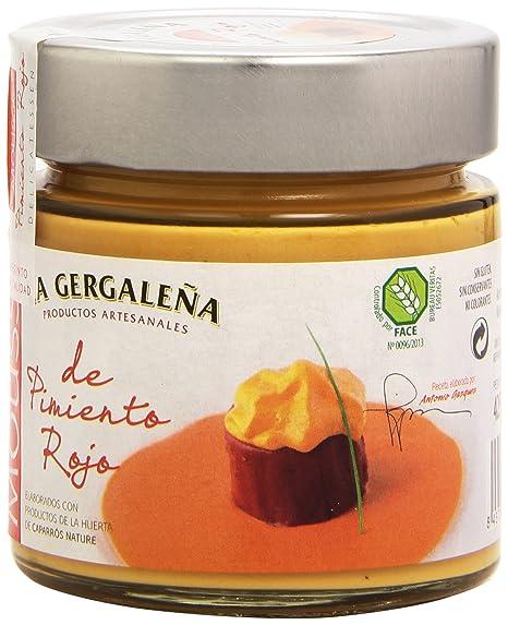 La Gergaleña Productos Artesanales Mousse de Pimiento Rojo - 235 gr -, Pack de 6