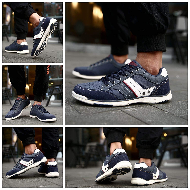 46 EU, A9099-Azul AX BOXING Zapatillas Hombres Deporte Running Sneakers Zapatos para Correr Gimnasio Deportivas Padel Transpirables Casual