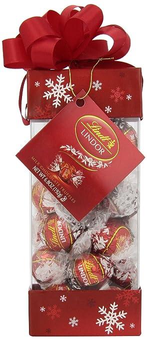 Amazon.com : Lindt LINDOR Holiday Pinnacle Milk Chocolate Truffles ...