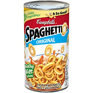 Campbell's SpaghettiOs Canned Pasta, Original, 22.4 oz. Can (Pack of 12)