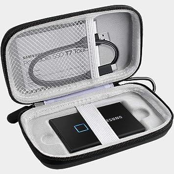 Carcasa compatible con Samsung T7 Touch SSD portátil (1 TB, 2 TB, 500 GB, USB 3.2 (MU-PC1T0K/WW), color negro: Amazon.es: Electrónica