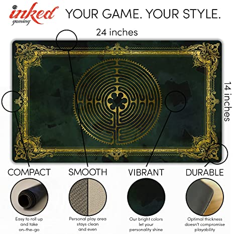 Amazon labyrinth charlemagne playmat by inked gaming inked amazon labyrinth charlemagne playmat by inked gaming inked playmats perfect for mtg pokemon yugioh magic the gathering tcg game mat toys games malvernweather Choice Image