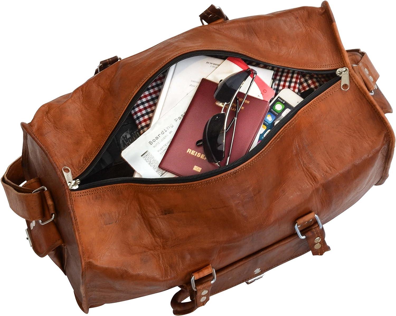 Bolso de Viaje de Cuero Gusti Leder Henry Bolso de Deporte Equipaje de Mano Tiempo Libre Cuero de Cabra R4