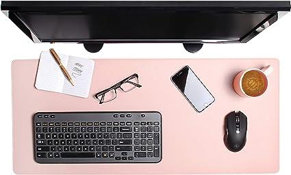 Sottomano da scrivania con protezione per i bordi antiscivolo in morbida ecopelle tappetino per il mouse impermeabile 60 x 40 cm