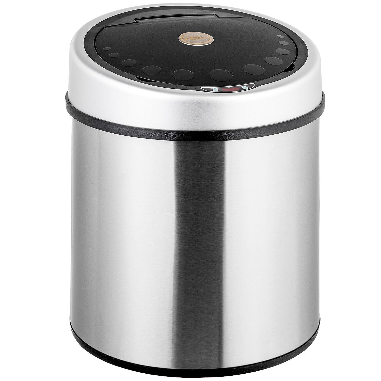 TecTake 400620 - Papelera cubo basura sanitario con sensor de apertura, 40 litros, acero: Amazon.es: Hogar