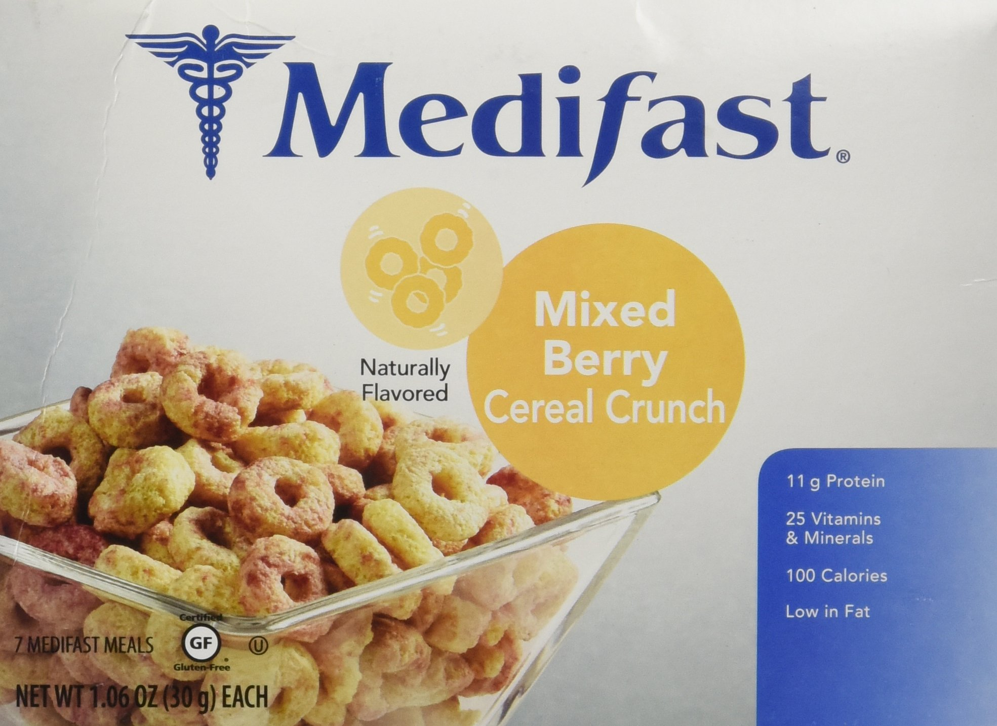 Medifast Mixed Berry Cereal Crunch (1 Box/7 Servings)