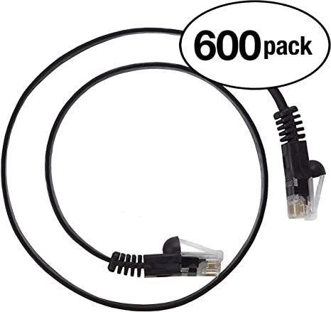 550MHZ InstallerParts 10Gigabit//Sec Network//High Speed Internet Cable Ethernet Cable CAT6A Cable UTP Booted 3 FT Black Professional Series 5 Pack