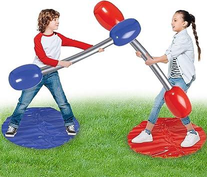 KreativeKraft Juegos Exterior Niños Jardin, Juego De Duelo De Gladiador Inflable, Juguetes de Piscina para Niños Adultos, Juegos al Aire Libre para Fiestas De Cumpleaños Piscina Playa: Amazon.es: Juguetes y juegos