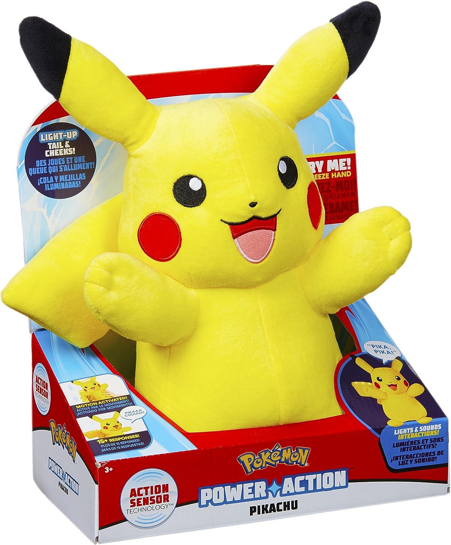 Mehrfarbig Pokemon 96383 Power Action Pikachu Spielzeug