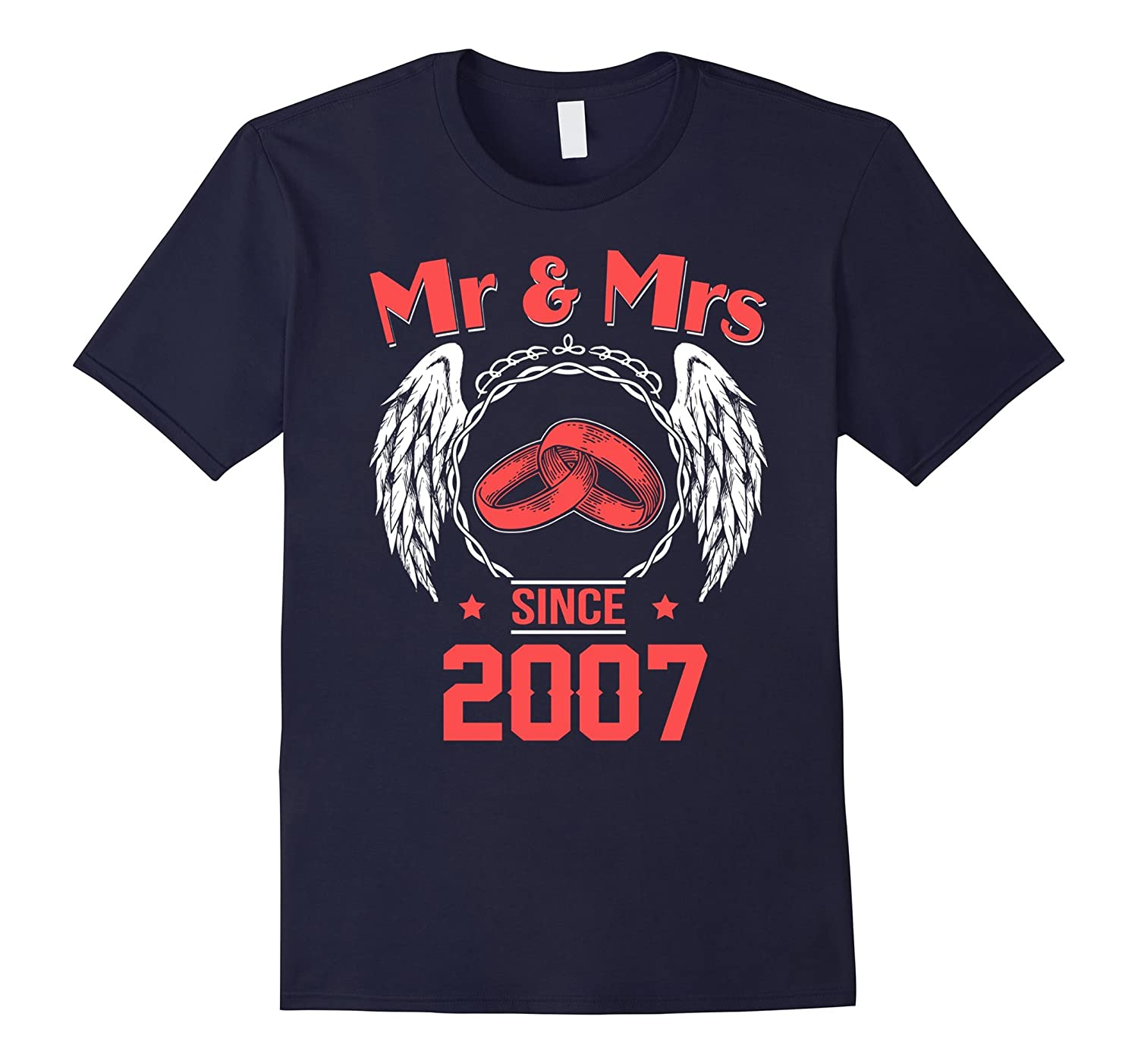 10th Wedding Anniversary Gifts T shirts for Husband for Wife-TH
